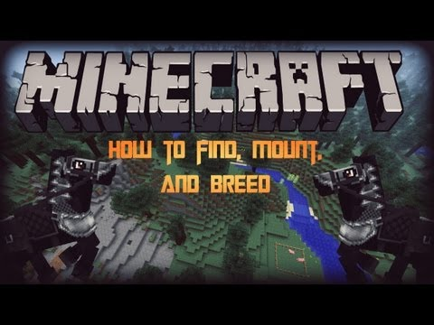 (1.6.2) HOW TO FIND. MOUNT. AND BREED HORSES (Minecraft)
