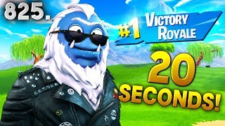 *BREAKING* 20 SECOND GAME WIN! - Fortnite Funny WTF Fails and Daily Best Moments Ep. 825