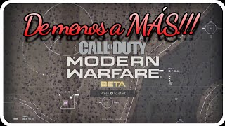 "Call of Duty Moder Warfare Beta Multijugador en mi primera partida ""de menos a mas"""