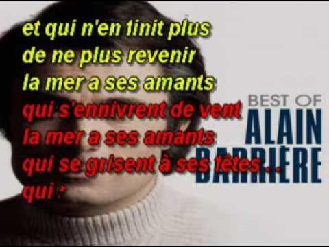 Alain Barrière   A Regarder La Mer