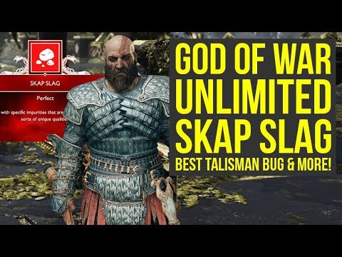 God of War New Game Plus UNLIMITED Skap Slag Tactic, Talisman Bug & More (God of War 4 New Game Plus