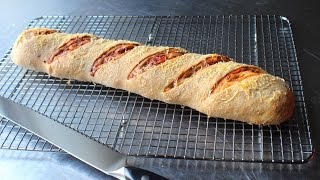 Salami Bread - How to Make a Stuffed Bread Recipe