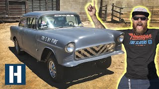 600HP Chevy Bel Air Drag Car Gets a Plasma Cut Custom Grille! Gasser Upgrades