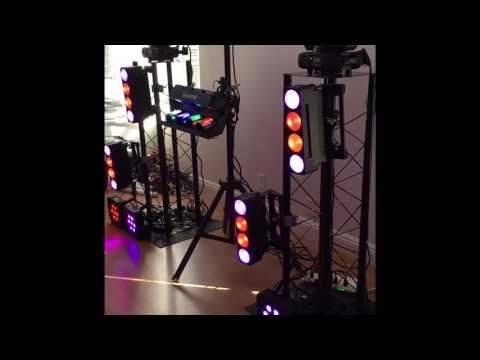 My DMX Buddy Dj light setup/ testing adj stuff