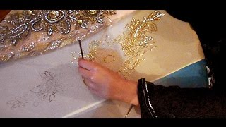 Download embroidery stitches by hand designs tutorial how to make party wear dress 3Gp Mp4