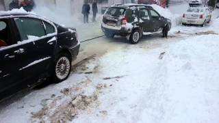 Duster versus Bmw