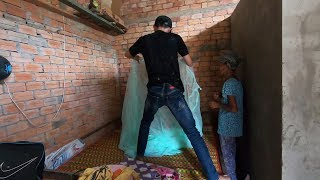 Vui mừng vì có nhà vệ sinh, nhưng còn cái giường thì mục nát hết - TÂM RÒM VLOG