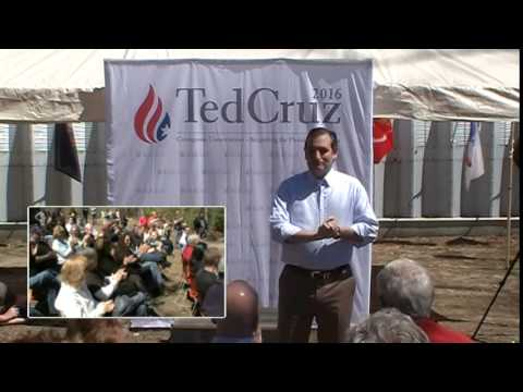The Honorable Senator from the Great State of Texas, Ted Cruz, Presidential Candidate