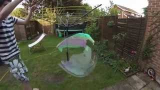 Homemade Large Bubbles Experiment
