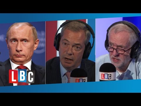 Phone Farage: Vladimir Putin, Jeremy Corbyn, And Syria. (Full Interview)