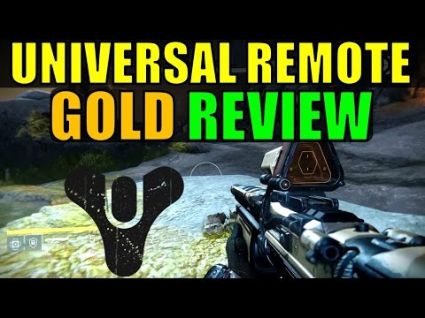 Destiny: Universal Remote Gold/Exotic Shotgun Review!