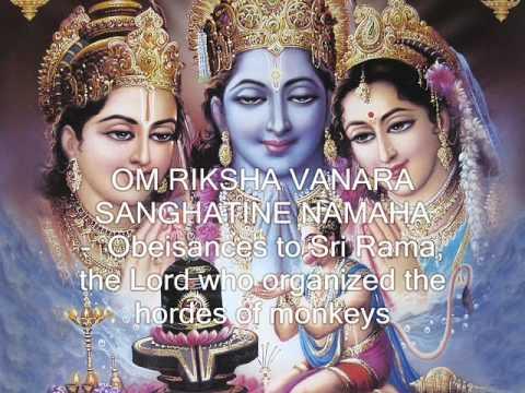 Shri Ram Jai Ram Jai Jai Ram - 108 names of Lord Rama