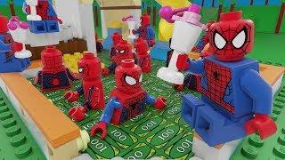 Lego Spiderman Swimming Pool Money Fail