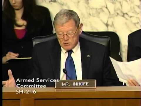 Inhofe at SASC Hearing on the Defense Authorization Request for Fiscal Year 2015