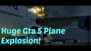GTA 5 Huge plane crash explosion!