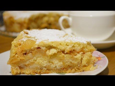 Самый лентяйский пирог с яблоками Быстро Просто Вкусно