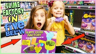 WE MADE A SLIME FACTORY IN 5 BELOW!!