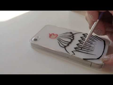 How to paint iphone case: Cupcake