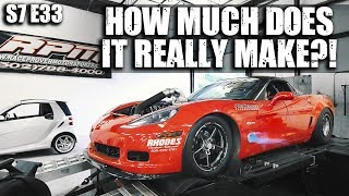 Fran's 7 Second Procharged Corvette Z06 hits the dyno!  | RPM S7 E33