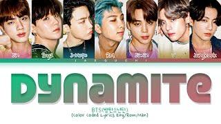 Download lagu BTS 'Dynamite' Lyrics (방탄소년단 Dynamite 가사) (Color Coded Lyrics)