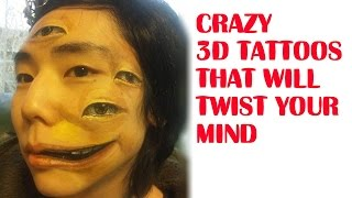 Crazy 3D Tattoos That Will Twist Your Mind