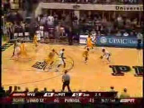 West Virginia vs. Pitt - College Basketball 2/7/08 Video