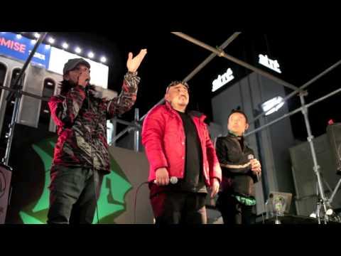 松戸市議選に立候補 DELIさんのブロックパーティ 2014年11月15日松戸駅西口デッキ 投票は16日(日曜日) 三宅洋平さん 山本太郎議員