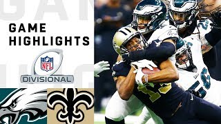 Eagles vs Saints Divisional Round Highlights | NFL 2018 Playoffs