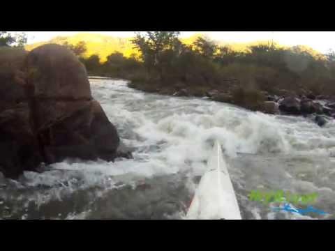 """The Waterfall"" Rapid - Umgeni River, Table Mountain (22 cumecs)"