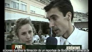 Noticia curiosa Canal 9 TV . Accidente durante un Reportaje de video Boda en Alicante