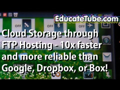 Cloud storage FTP Host using 2G / 3G cellular Smartphone Android- Better than Google, Dropbox, Box