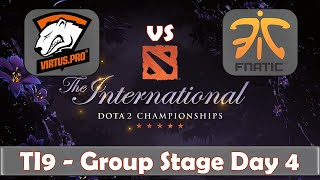 VP vs Fnatic | EG vs NiP | The International 2019 | Dota 2 TI9 LIVE | Group Stage Day 4