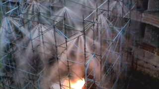Test dell'impianto antincendio Aquatech - Teatro Petruzzelli 2002