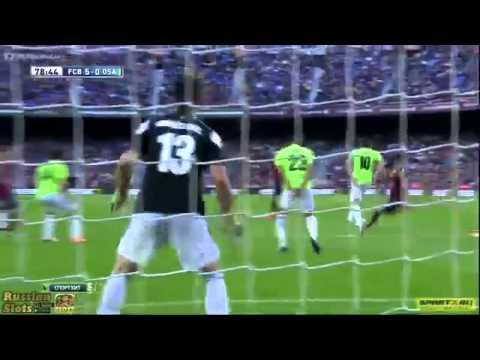 Barcelona vs Osasuna 7 0 2014 all goals 16 March 2014 مباراة برشلونة واوساسونا 7 0