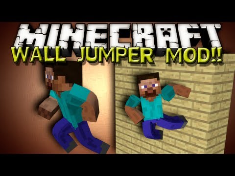Minecraft Mods - WALL JUMPER MOD! FUN MINIMOD!!