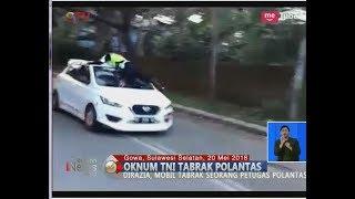 VIRAL!! Oknum TNI Tabrak Polantas Hingga ke Atap Mobil saat Ditilang - BIS 20/05