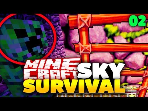 unerwarteter CREEPER ANGRIFF! - Sky Survival #2