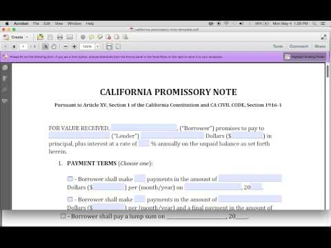 promissory note florida Download Blank Promissory Note Templates | PDF | RTF | Word ...