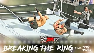 WWE 2K17 Brock Lesnar vs Big Show | Ring Collapsed | PS4 Gameplay