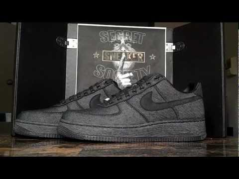 Nike Air Force 1 One XXX Black Denim Review *Secret Sneaker Society*