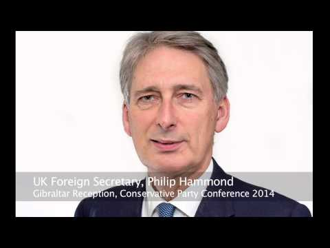 Philip Hammond at Gibraltar Reception Conservative Party Conference 2014