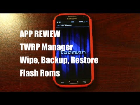 TWRP Manager Wipe. Backup. Restore. Install Roms Team Win Recovery Project