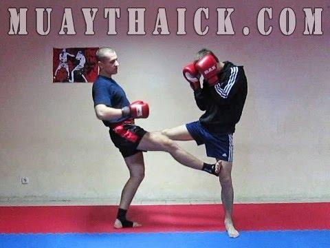 Тайский бокс Секреты - Очень жесткий прием от фронт кика