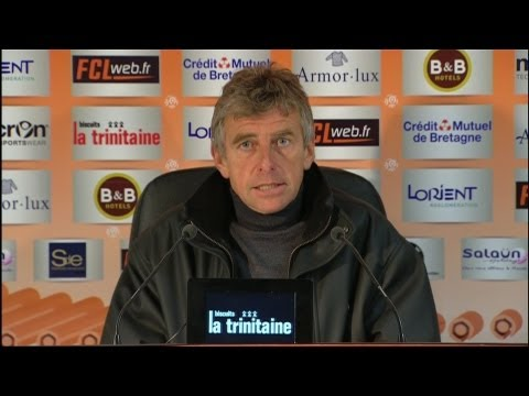 image vido  Confrence de presse FC Lorient - OGC Nice (1-1)