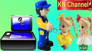 Đồ chơi trẻ em CHIẾC MÁY BẮT ĂN TRỘM TRONG SIÊU THỊ BÚP BÊ KN Channel SUPERMARKET FOR DOLL
