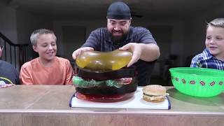 GIANT GUMMY McDonald's Big Mac Fun Cheeseburger!!