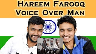 Indian Reacts to Funny Hareem Farooq interview with Voice Over Man | Swaggy d