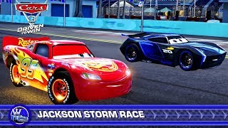 Cars 3: Driven to Win - Lightning McQueen vs Jackson Storm vs Fabulous Lightning McQueen
