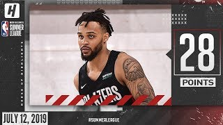 Gary Trent Jr Full Highlights Blazers vs Bucks (2019.07.12) Summer League - 28 Points!