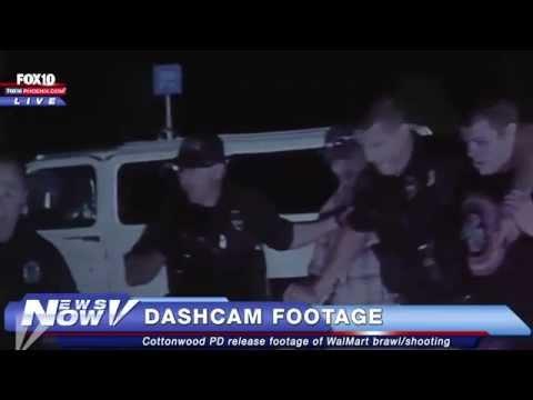 FNN: Dashcam video of WalMart brawl and shooting
